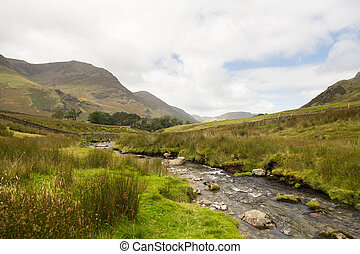 Rocky stream leads towards Buttermere - Rocky river leads to...