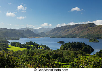 Derwent Water from Castlehead viewpoint - Panorama of...