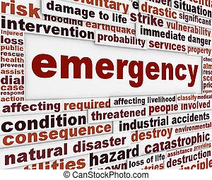 Emergency message conceptual background Rescue service...