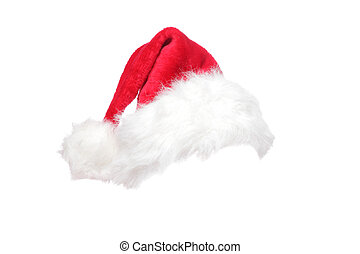 Christmas santa hat isolated on white background designed to...