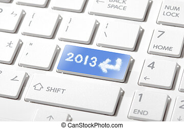 entrer, 2013, heureux, nouveau, année