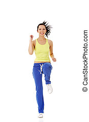 Fitness woman doing exercise
