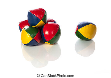 Set of six juggling balls - This set of six juggling balls...