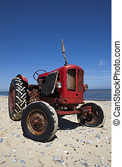 Little Red Vintage Beach Tractor