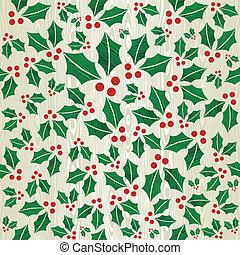 Christmas wooden mistletoe shape pattern - Christmas wooden...