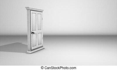 Money pouring from door