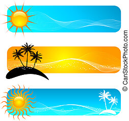 Tropical banners - Various tropical banner designs