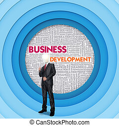 Business word cloud for business concept, Business...
