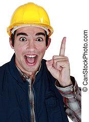 Tradesman with a brilliant idea