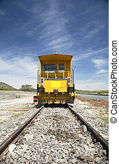locomotive front - locomotive for works on rail train at...