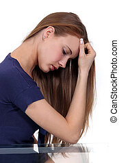 Woman suffering from stress