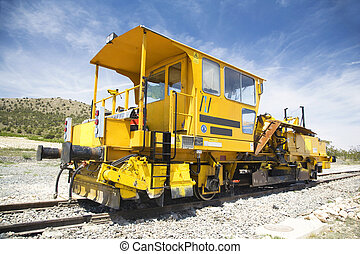 locomotive side - locomotive for works on rail train at...