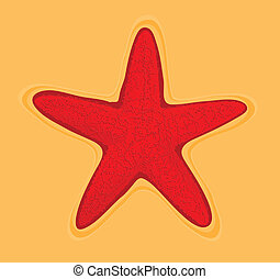 starfish - red starfish vector of illustration