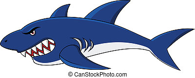 shark cartoon - Vector illustration of shark cartoon