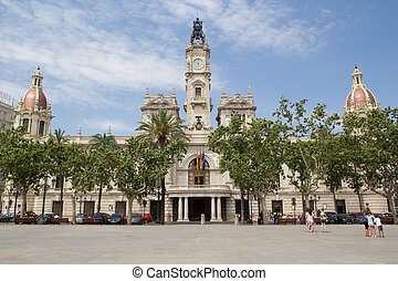 Valencia City Hall - Valencia, Spain City Hall Building in...