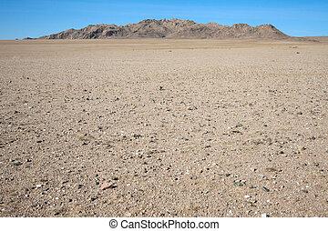 Gobi Desert - Among the rocky hill of dunes in the Gobi...