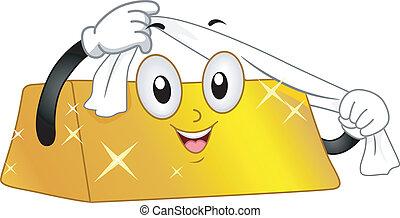 Gold Bar Mascot