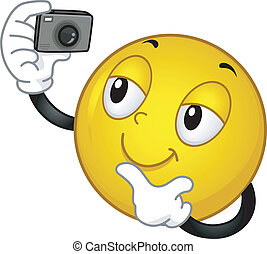 Smiley Picture - Illustration of a Smiley Taking a Picture...