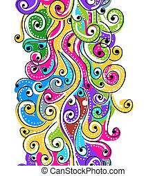 Seamless wave hand drawn pattern for your design, abstract...