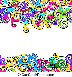 Seamless wave hand drawn pattern for your design, abstract background