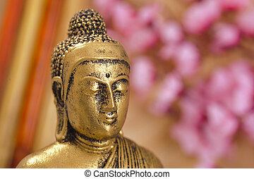 cabeza, chino, Buddha, Escultura