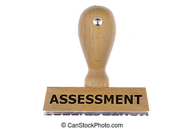 assessment - isolated rubber stamp marked with assessment