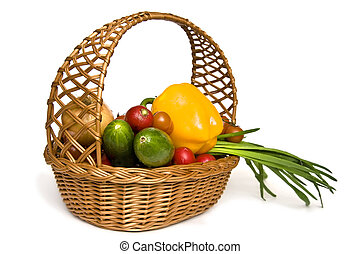 Vegetables - Fresh vegetables like red tomatoes or green...