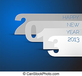 Happy New Year 2013 blue vector card