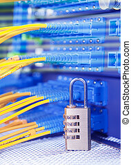Lock and fiber optical network cable