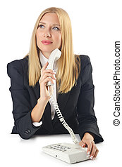 Woman talking at the phone