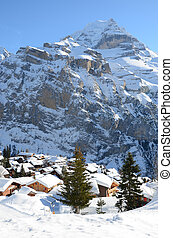 Muerren, famous Swiss skiing resort