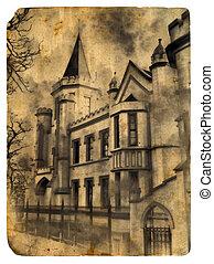 Castle. Old postcard. - Castle. Old postcard, design in...