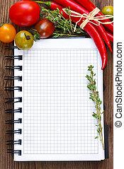 Vegetable notebook.