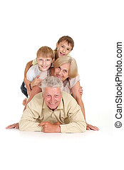 Grandchildren with their cute grandparents - Grandparents...