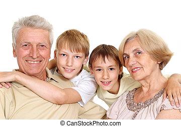 abuelos, su, interesante, nietos