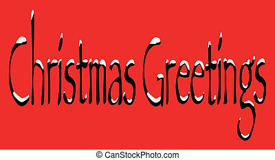 Christmas Greetings - A Christmas Greetings tag