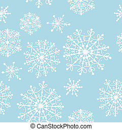 Seamless pattern with winter snowflakes for your design