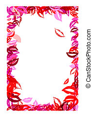 Frame with lips and smiles for your design