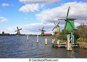 The village - an ethnographic museum in Holland. Four...
