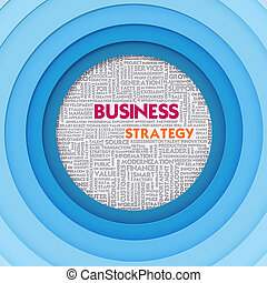 Business word cloud for business concept, Business Strategy