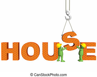 Puppets - builders - Builders, omitting a letter s on a hook...
