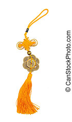 Traditional chinese knots on white background
