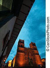 Cathedral at Blue Hour - Cathedral of Barichara shot at the...