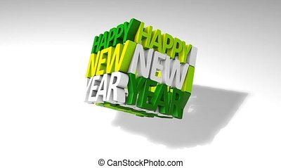 New year graphic animtion