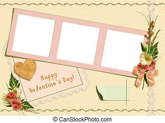 Retro photo album - Happy Valentine's Day - Happy...