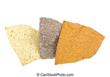 maíz,  tortilla, pedacitos