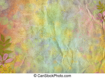 abstract pastel-colored paper background with the flowers...