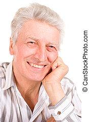 Fair elderly male - Intelligent elderly man in full vigor...