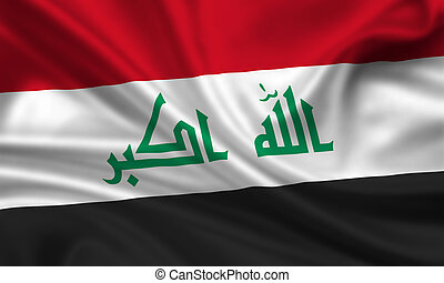 Iraq - waving flag of iraq