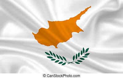 Cyprus - waving flag of cyprus